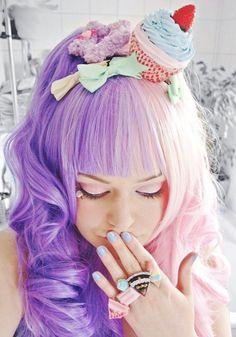 kawaii, pastel, cupcake