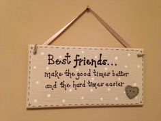Large best friends plaque