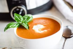 Use a stovetop-safe slow cooker, if you have one, to cut down on extra dishes, and saute the aromatics briefly before adding the remaining ingredients to the crock. In a few hours, simply puree the soup until it's creamy and smooth.