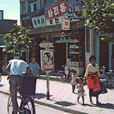 Korea back on 춘천시 Pictures To Draw, Old Pictures, Old Photos, Countries Of Asia, Korean Photography, Korean People, City Aesthetic, Body Drawing, Street Culture
