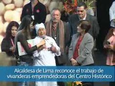 Alcaldesa de Lima reconoce el trabajo de vivanderas emprendedoras del Centro Histórico