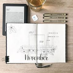 NOVEMBER || Almost a new month that means a new #monthlyspread. I am in love with the floral design and that will be my theme for the month November. Hoping to improve my skills this month by doing lots of floral! ~ ~ ~ ~ #bulletjournal #bulletjournalnewbie #bulletjournallove #bulletjournalcommunity #bujo #bujobeauty #showmeyourplanner #quote #handlettering #handlettering #fall #leaves #drawing #micronpen #bulletjournalss #floral #modernfloral #modernflorals101 #handdrawn #minimalistbuj...