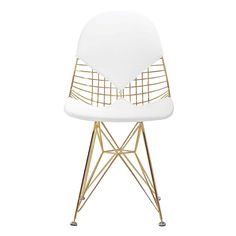 M245 Chair in Gold and White