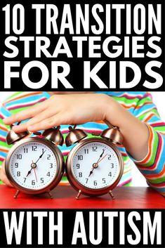 Transition Strategies for Kids with Autism: 10 Tips that Work! Transition Strategies for Kids with Autism Autism Preschool, Autism Education, Autism Parenting, Autism Activities, Autism Resources, Autism Classroom, Aspergers Autism, Autism, Boden