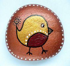 Robin stone/paperweight by Ludibund on Etsy, $12.00
