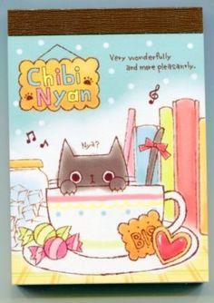 Kamio Chibi Nyan Cat 2 Design Mini Memo Pad