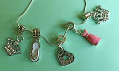 Collier Breloques Chat Rose