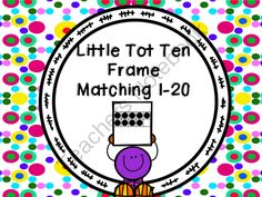 Here's a set of ten frame matching cards for numbers 1-20.