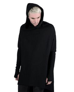 Killstar Ritual Hoodie Cloak Mens Black Goth Occult Pullover Hooded Top in Clothes, Shoes & Accessories, Men's Clothing, Hoodies & Sweats   eBay