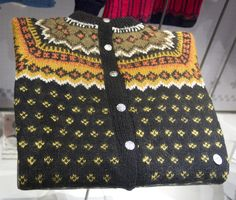 """Traditional Norwegian knitted jacket. Pattern is called """"Nordkapp"""""""