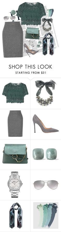 """Te"" by saltless ❤ liked on Polyvore featuring Miguelina, Oasis, L'Agence, Gianvito Rossi, Chloé, Pomellato, Chopard, Burberry, Bianca Elgar and Gucci"