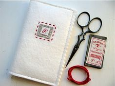 A Travel Sewing/Embroidery Kit Needle Case, Needle Book, Sewing Case, Felt Case, Stitch Book, Business Card Case, Fabric Bags, Sewing Accessories, Sewing Notions