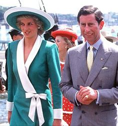 January 26, 1988: Prince Charles & Princess Diana at the Bicentennial Celebrations at the Sydney Opera House on Australia Day.