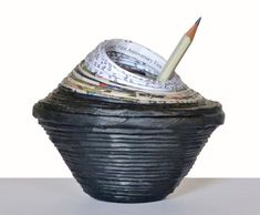 First Anniversary Gift for Him Paper Pencils Pot Husband