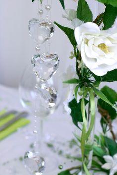 Dekoherzen groß Flute, Glass Vase, Champagne, Tableware, Diy, Home Decor, Tree Wedding, Guest Gifts, Dekoration