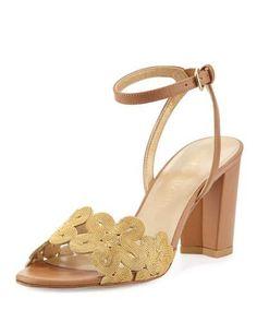 STUART WEITZMAN CHAINREACTION FLORAL CHAIN CITY SANDAL. #stuartweitzman #shoes #sandals