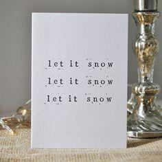'Let It Snow' Single Christmas Card.