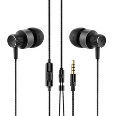 Cost Sale Metal Headphones Super Bass Earphone Headphone With Microphone Clear Sound Stereo Headset For Phone Mp3 Mp4 Black
