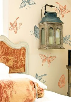 Chinoiserie Butterflies Furniture Stencil