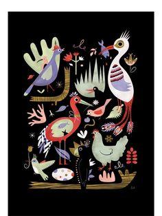 Human Empire Artist Series Birds Poster (50x70cm)