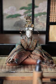 江戸時代のひな人形です。 すごい存在感でした。