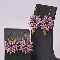 Superduo earrings from Rings & Things ~ Seed Bead Tutorials