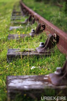 Railroad tracks. The ones in Carlotta and Fortuna stopped working because of the storms, but when they ripped them out, it was heartbreaking.
