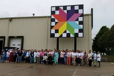 Group photo with retreaters from Country Traditions Let's GO! Quilting Retreat 2015!