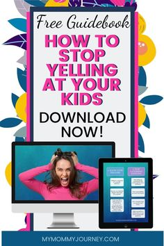 Are you so stressed from work and house chores you end up yelling at your kids? Here is a free guidebook to help you learn 26 ways on how to stop yelling your kids and create a loving family environment. Comes with free printable sheet. Download now!  #stopyellingatyourkids #stopyelling #stopyellingmom #stopyellingatyourkidsparenting #stopyellingatme #waystostopyellingatyourkids #stopyellingatyourkidsparentingtips #stopyellingatyourkidsbook