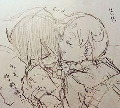 ray x norman yaoi Comic Anime, Anime Manga, Anime Art, Seven Deadly Sins Anime, Horror Show, A Silent Voice, Fanarts Anime, Cute Wallpaper Backgrounds, Slayer Anime