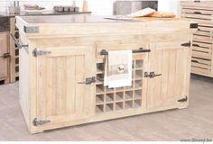 ll-kitchbl02-keukenblok keukeneiland landelijk cottage retro stijl met flesserek