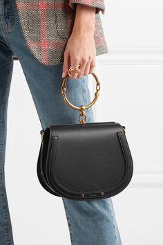 Chloé | Nile Bracelet medium leather and suede shoulder bag | NET-A-PORTER.COM