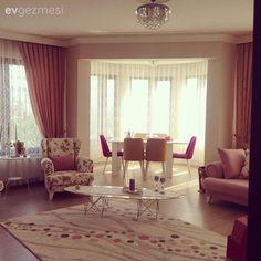 Berjer, Halı, Pembe, Perde, Salon, Yemek Odası