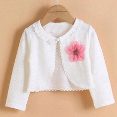 Cotton cardigan for girls long sleeve