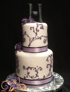 Pretty in Purple Wedding Cake
