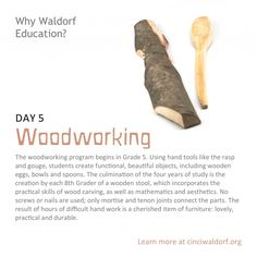 """woodworking""  40 Things We Love About Waldorf Education"