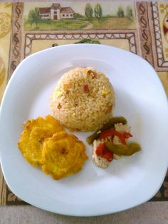Rice and tostones