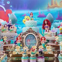 THE LITTLE MERMAID BIRTHDAY PARTY DECORATIONS A PEQUENA SEREIA ARIEL FESTA INFANTIL.14