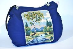 vintage needlepoint brought BAG to life ;-)