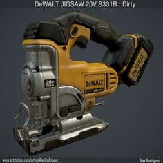 DeWalt Jigsaw DCS331B Dirty, Alex Rodriguez on ArtStation at http://www.artstation.com/artwork/dewalt-jigsaw-dcs331b-dirty