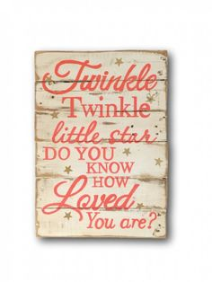 Twinkle Twinkle Little Star Sign / Nursery Wall Art * Continue to the product at the image link. Pallet Crafts, Pallet Art, Diy Pallet Projects, Wooden Crafts, Wood Projects, Pallet Ideas, Pallet Painting, Diy Crafts, Nursery Signs