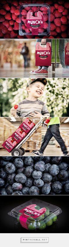 Munch'n #fruits #packaging designed by Tried&True Design - http://www.packagingoftheworld.com/2015/06/munchn.html