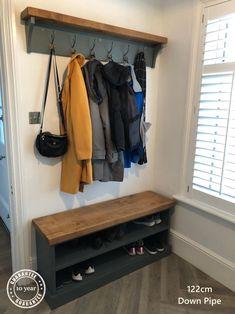 Shoe Rack and Coat Hooks Package Hallway Mudroom Bootroom Porch Shoe Bench/Coat Hooks with Hat Shelf Shoe Rack And Coat Hook, Coat And Shoe Storage, Hat Shelf, Coat Rack Shelf, Coat Racks, Diy Coat Rack, Hall Coat Rack, Coat Rack Bench, Shoe Rack With Shelf