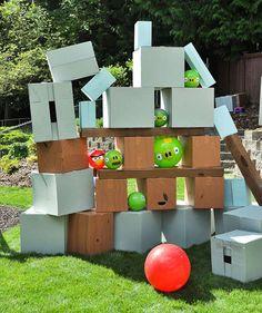 Jeu Angry Birds géant