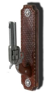 dr who leather art   Colt .45 Toilet Paper Holder