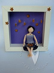 Bild Frau im Sternenregen, im Glücksregen Clay Tutorials, Tinkerbell, Disney Characters, Fictional Characters, 3d, Disney Princess, Painted Canvas, Fimo, Stars