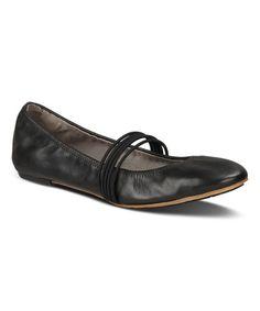 Look what I found on #zulily! Black Honnor Leather Flat - Women #zulilyfinds