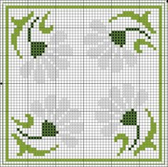 Flowers Biscornu chart