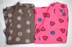2 Pairs Life Is Good Pajama Pants Small Pink Hearts Flowers Sleepwear Lounge #LifeisGood #LoungePantsSleepShorts