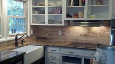 Kitchen back splash. All pallets